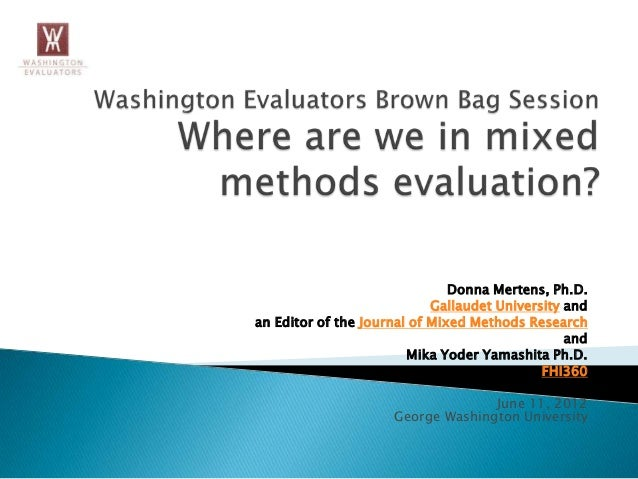Where We Are in Mixed Methods Evaluation?