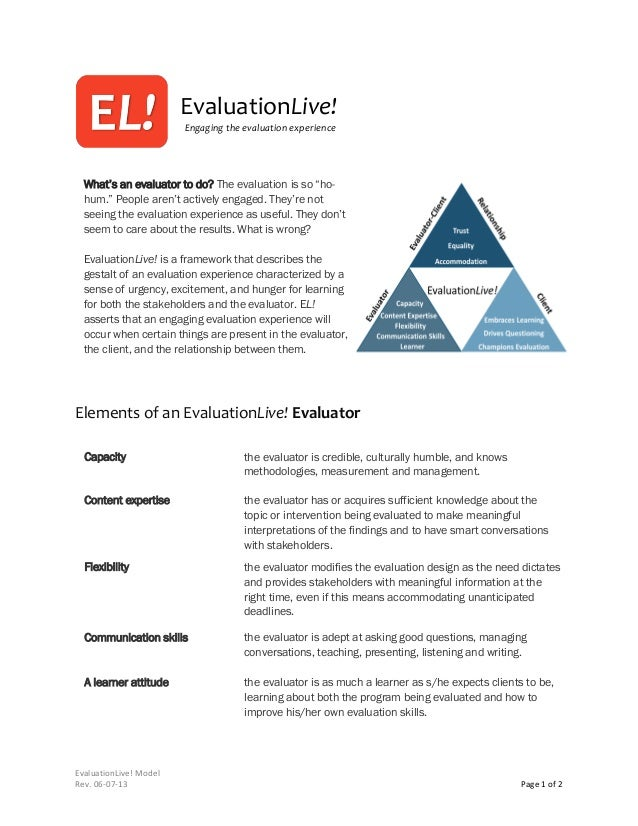"""EvaluationLive! Engaging the evaluation experience  What's an evaluator to do? The evaluation is so """"hohum."""" People aren't..."""