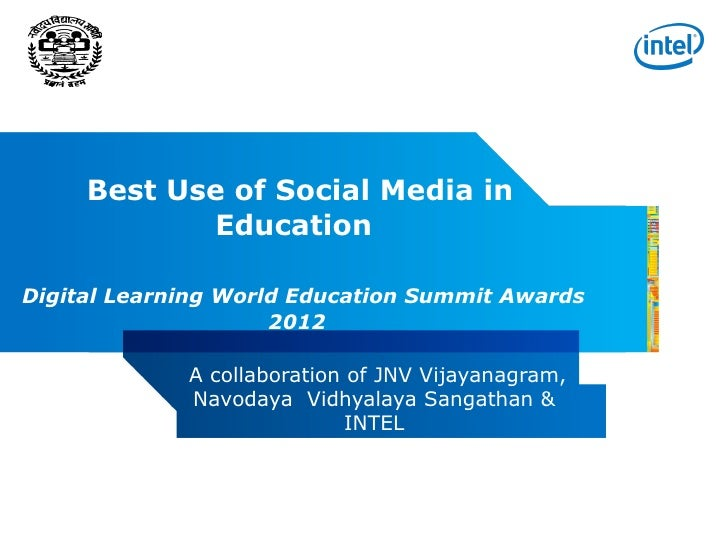 Best Use of Social Media in Education : Joint Initiative by NVS and Intel
