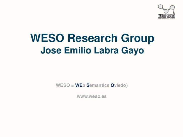 Weso research group