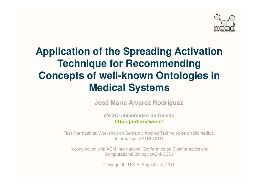 Application of the Spreading Activation    Technique for RecommendingConcepts of well-known Ontologies in           Medica...