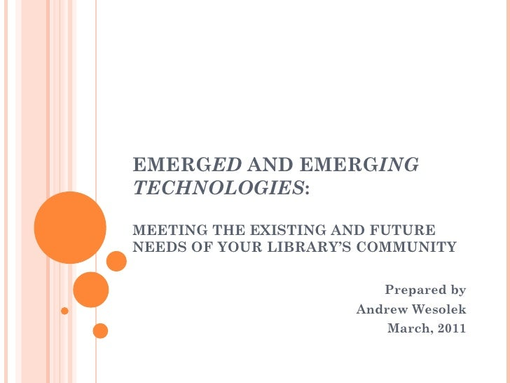 BECOMING PART OF THE DIGITAL LANDSCAPE: MEETING RESEARCHERS WHERE THEY  ARE Prepared by Andrew Wesolek February, 2011