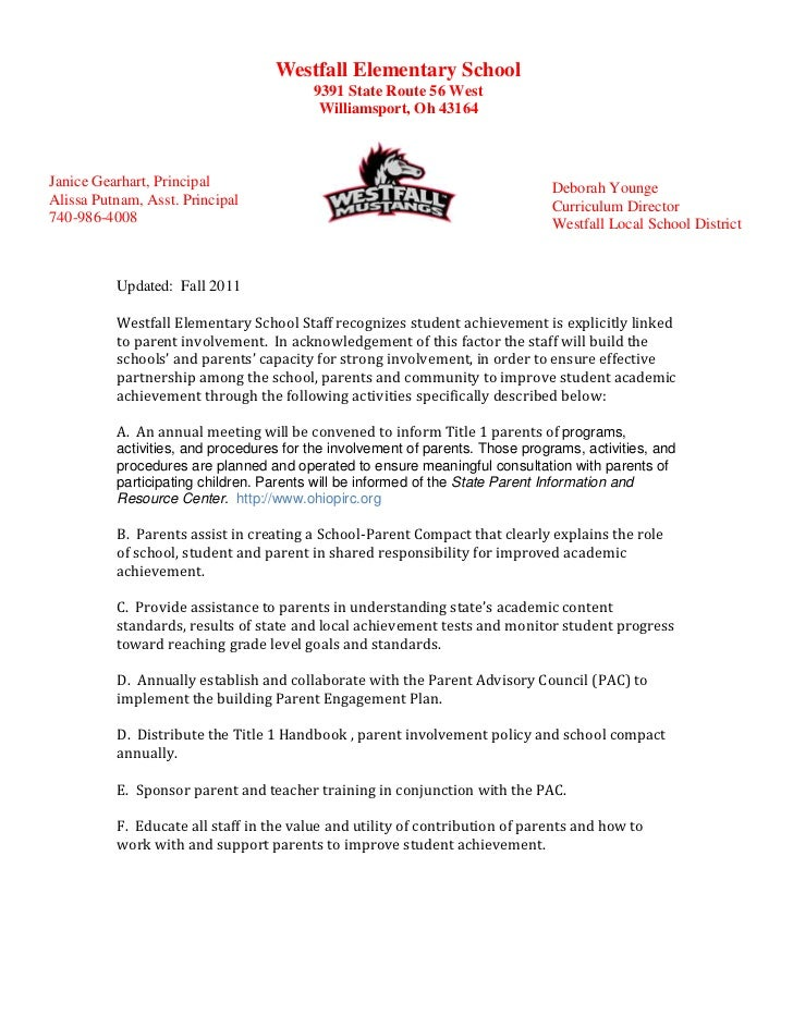 Parent Involvement Policy- WES