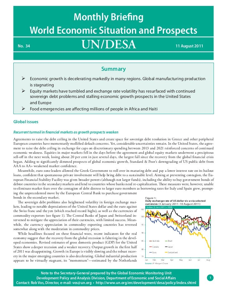 World Economic Situation and Prospects: Monthly Briefing, No. 34