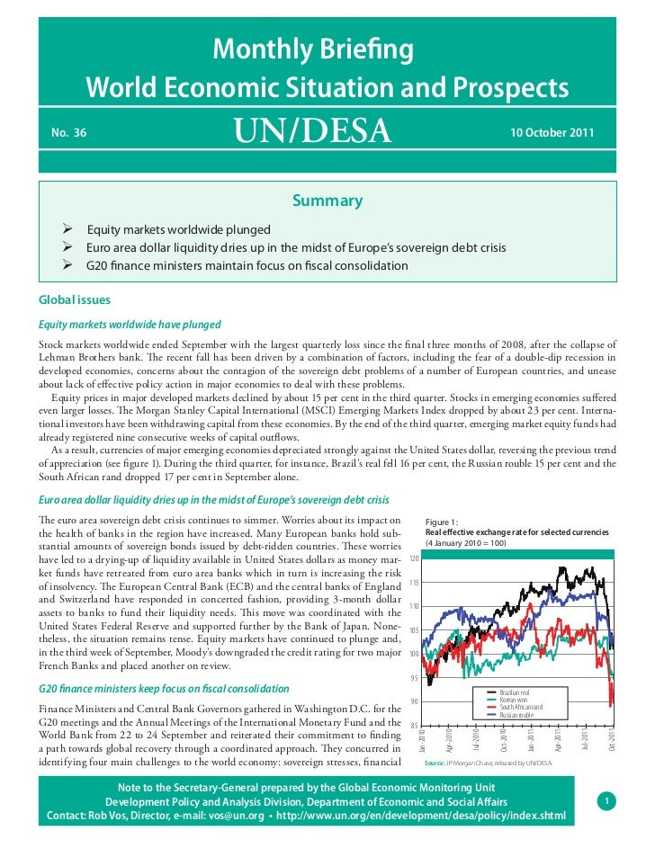 Monthly Briefing           World Economic Situation and Prospects   No. 36                                      UN/DESA   ...