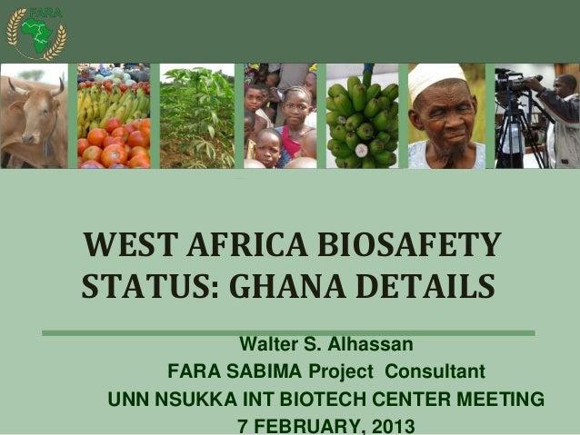 West africa bio safety