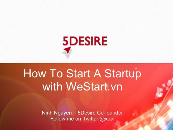 How to start a startup with WeStart.vn