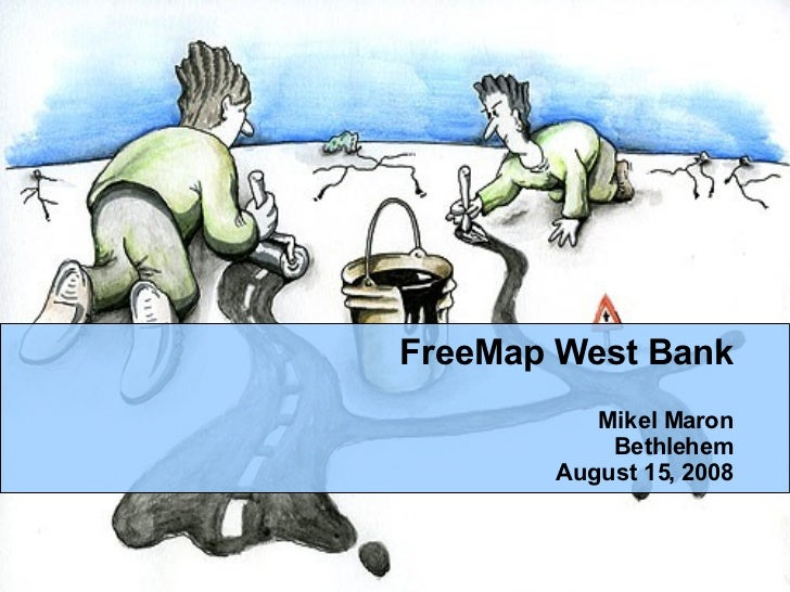 Palestine West Bank Free Map Introduction