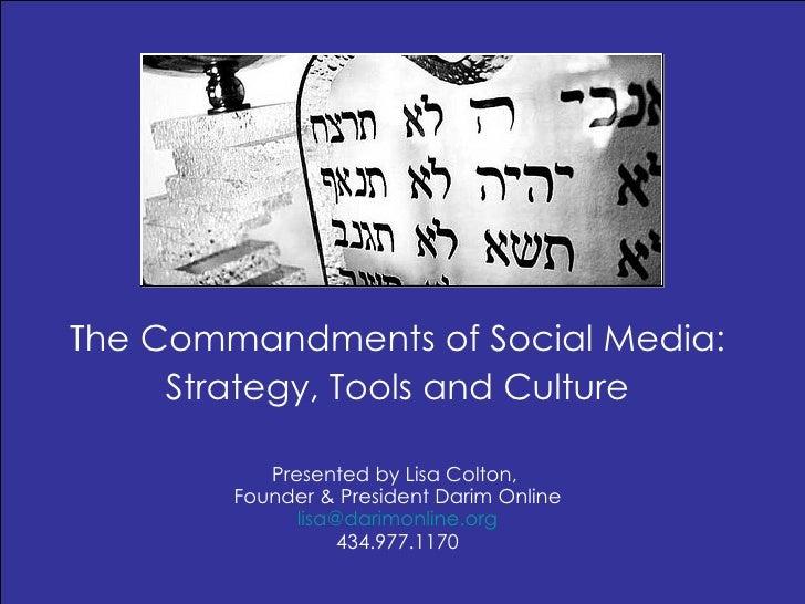 Commandments of Social Media, Westchester, June 2010