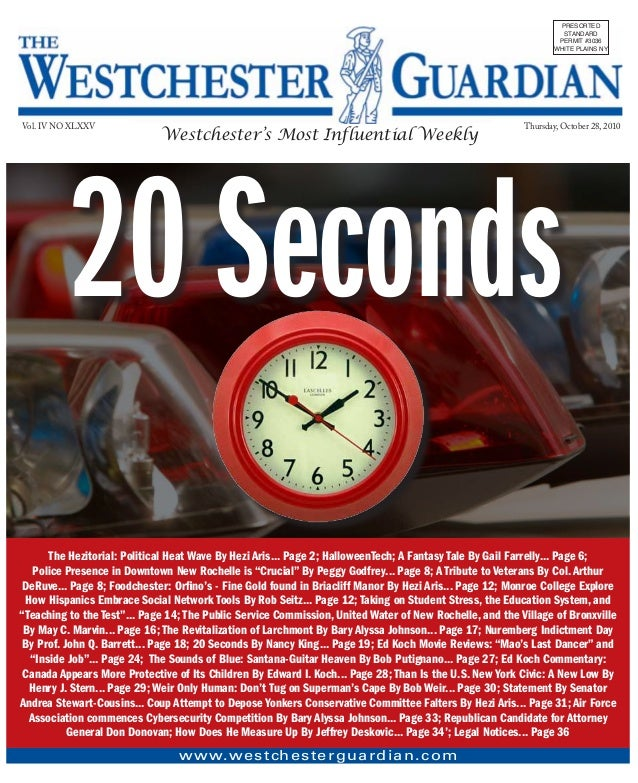 Westchester Guardian October 28, 2010  Edition