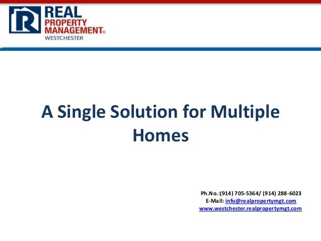 A Single Solution for Multiple Homes