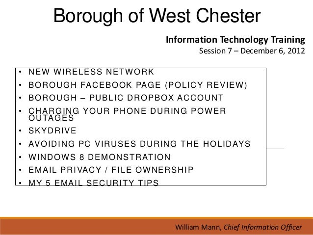 West Chester Tech Training session 7