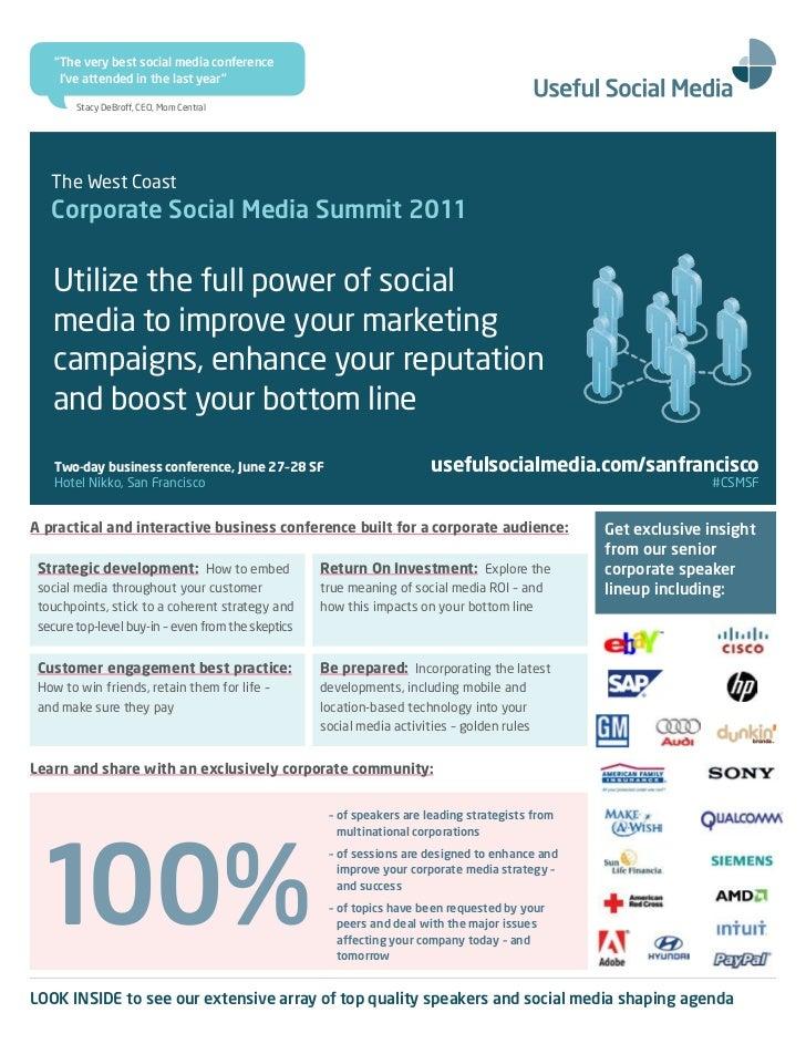 West Coast Corporate Social Media Summit