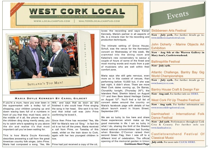 West cork local 26 july