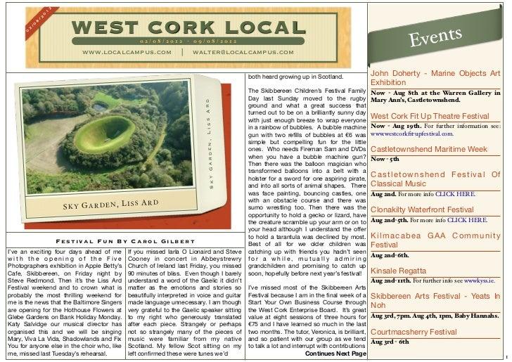 West cork local 2nd august 2012