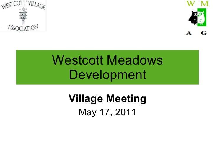 Westcott meadows development2011v2