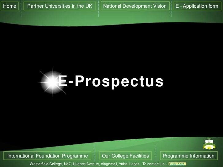 Westerfield college e prospectus