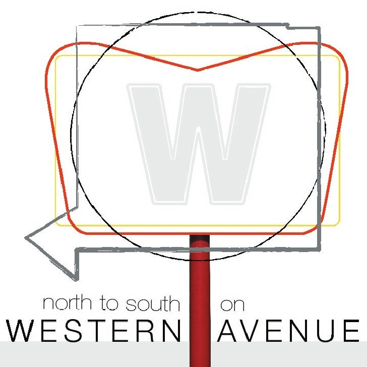 North to South on Western Avenue