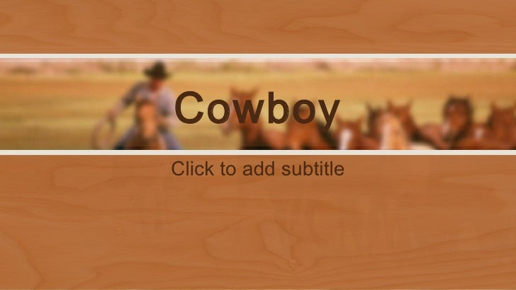 PowerPoint template Western cowboys