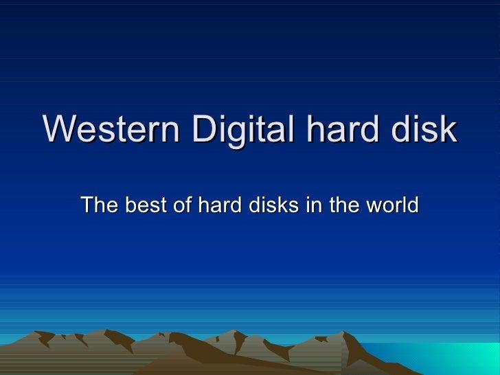 Western digital hard disk 500MB