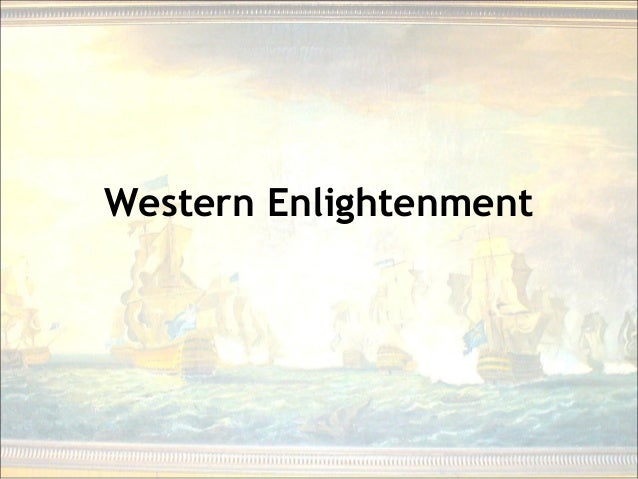 Western Enlightenment penetrating the darkness