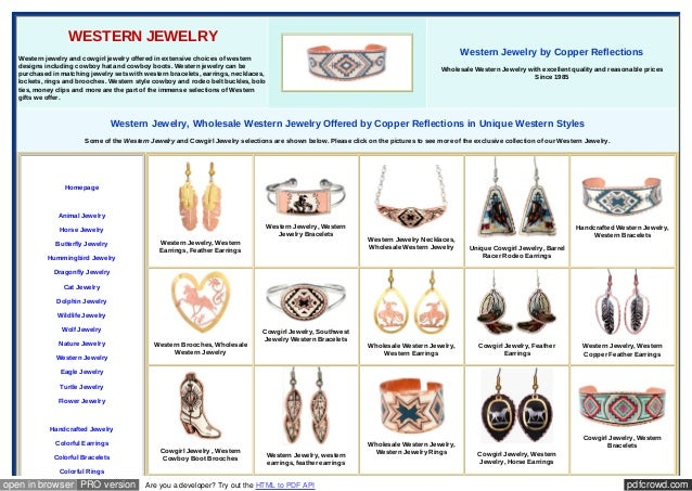 pdfcrowd.comopen in browser PRO version Are you a developer? Try out the HTML to PDF API WESTERN JEWELRY Western jewelry a...