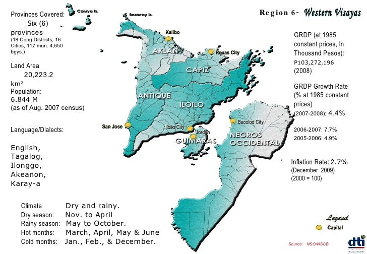Provinces Covered:   S ix (6) provinces (18 Cong Districts, 16 Cities, 117 mun. 4,650 bgys.) Population:   6.844 M (as of ...