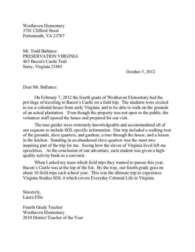Sample Letter Of Recommendation For Elementary Student Teacher ...