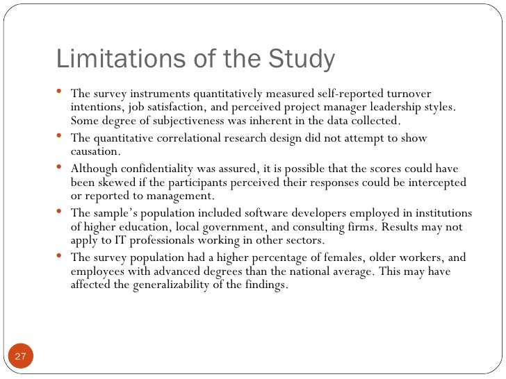 limitations of the study essay