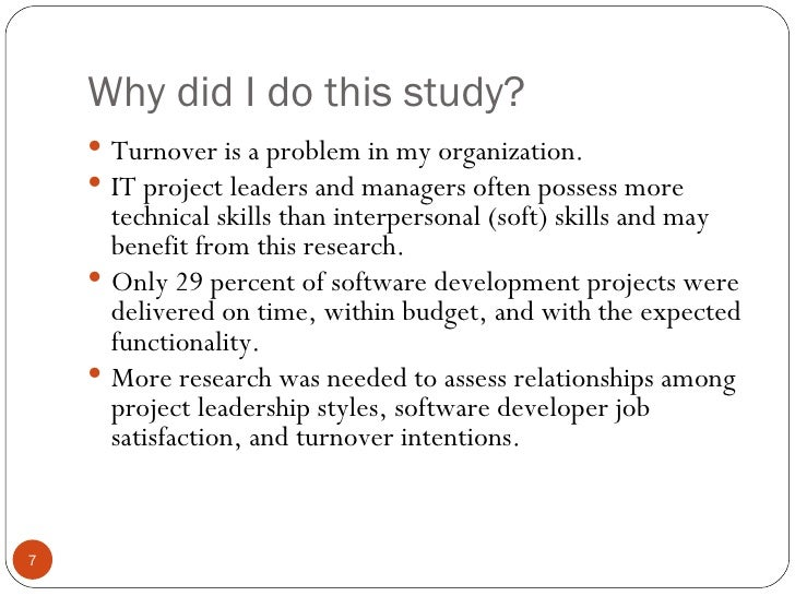 Dissertation on turnover
