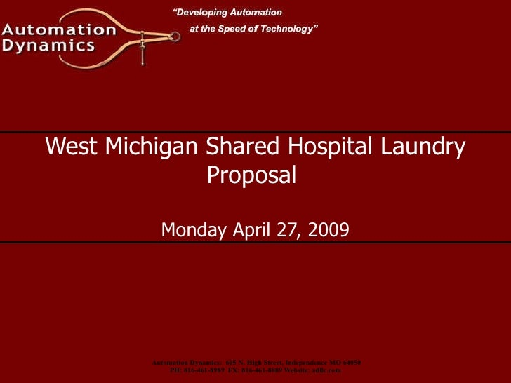 West Michigan Shared Hospital Laundry