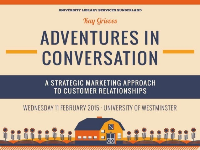 Adventures in Conversation: Westminster University Library