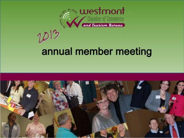Westmont chamber 2013 members meeting