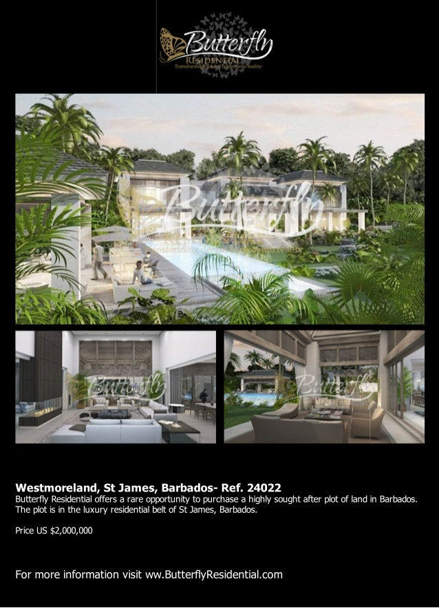 Plot for sale in Westmoreland, St James, Barbados