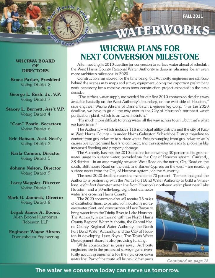 WHCRWA Fall 2011 Newsletter