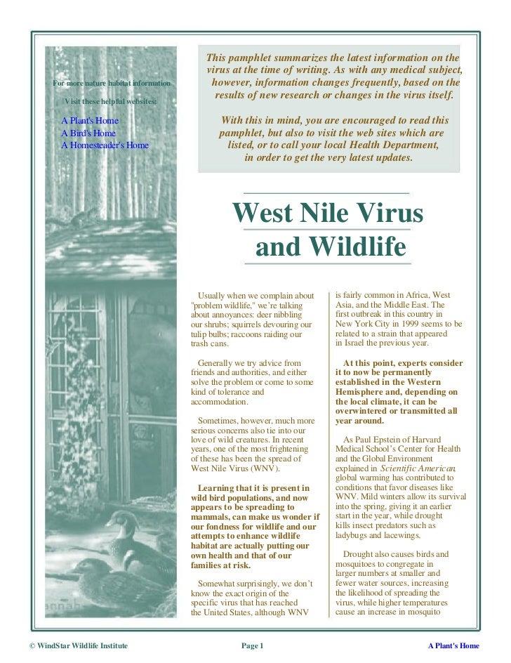 West Nile Virus and Wildlife