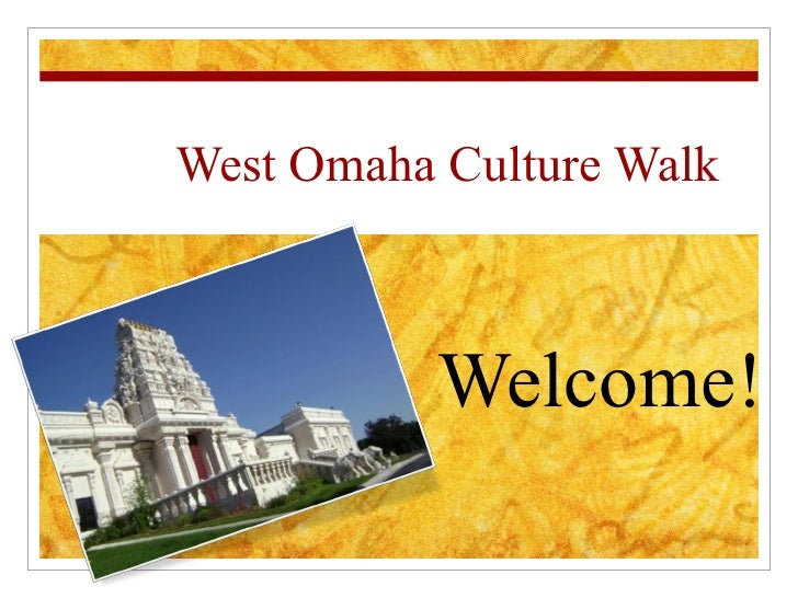 West Omaha Culture Walk  Welcome!