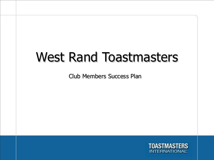 Westrand Toastmasters club overview june 2011