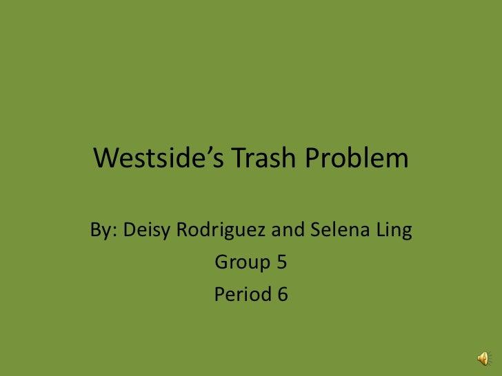 Westside's trash problem