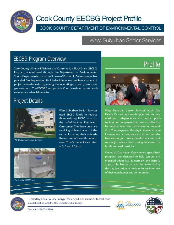 Cook County/West Suburban Senior Services EECBG Project Profile