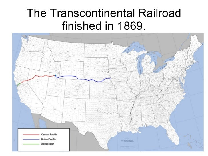 where did the transcontinental railroad meet in 1869
