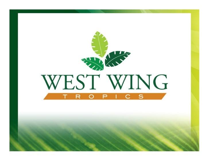 west wing tropics