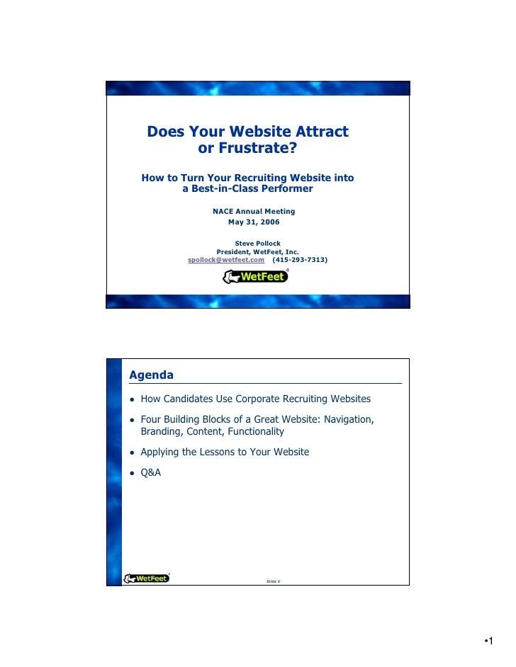 Best Practices in Recruiting Websites