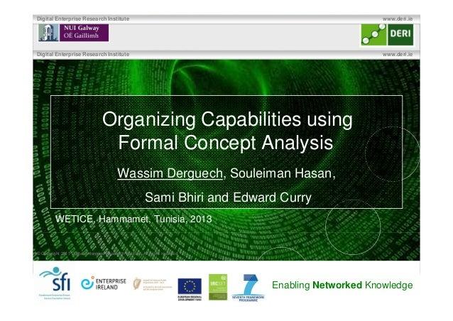 Organizing Capabilities using Formal Concept Analysis