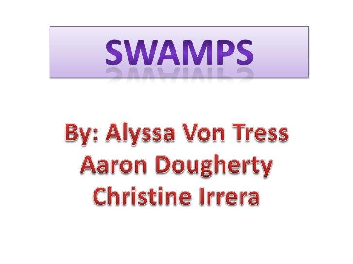 Swamps<br />By: Alyssa Von Tress<br />Aaron Dougherty<br />Christine Irrera<br />