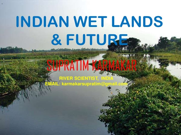 *    INDIAN WET LANDS        & FUTURE       SUPRATIM KARMAKAR            RIVER SCIENTIST, INDIA       EMAIL: karmakarsupra...