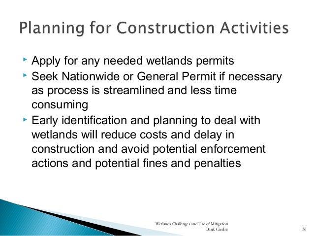 Permitting Process Wetlands Needed Wetlands Permits