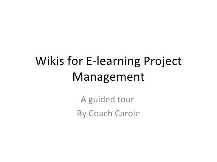 Wetpaint Wiki Workshop