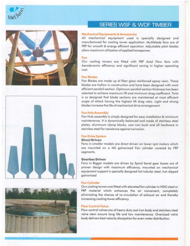 Wetpoint Aqua Equipments Pvt Ltd, Gwalior, Timber Cooling Towers
