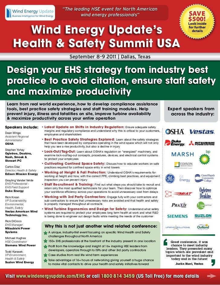 Wind Energy Update's Health and Safety Summit USA